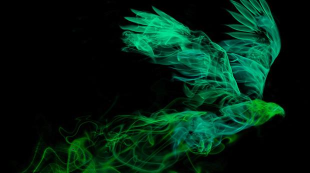 smoke eagle - green variation
