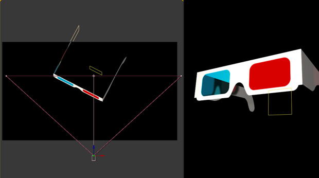3D glasses in after effects