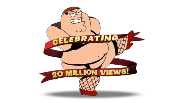 Family Guy - 20 Million hits
