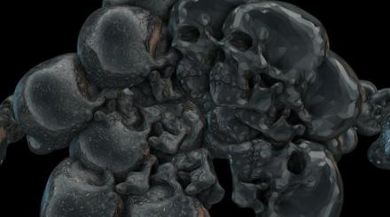 Element 3D skull experiment 01