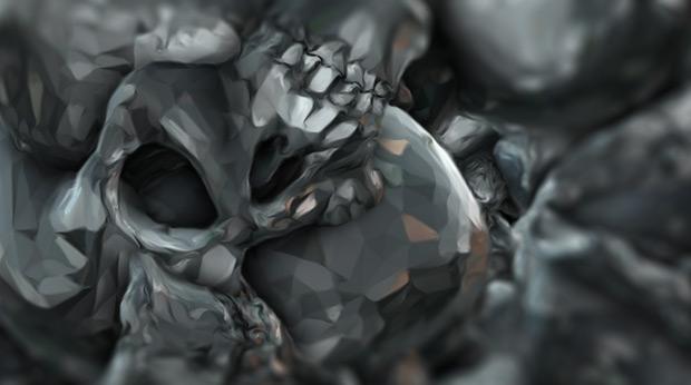 Element 3D skull experiment 02
