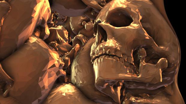 Element 3D skull experiment 06