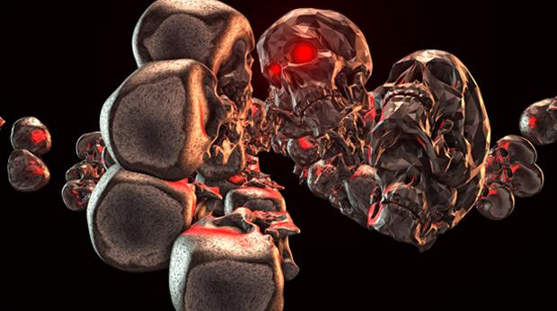 Element 3D  red skulls - terminator