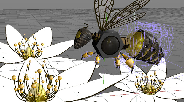 Honey Bee Wireframe