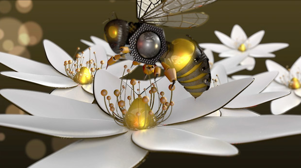 3d Honeybee full render